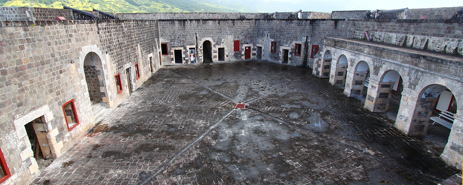 The Citadel at Brimstone Hill Fortress National Park on the island of St Kitts.