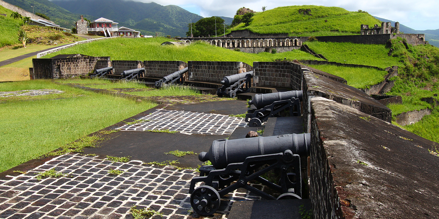Kanonen Brimstone Hill Fortress, St. Kitts, Price of Wales Bastion