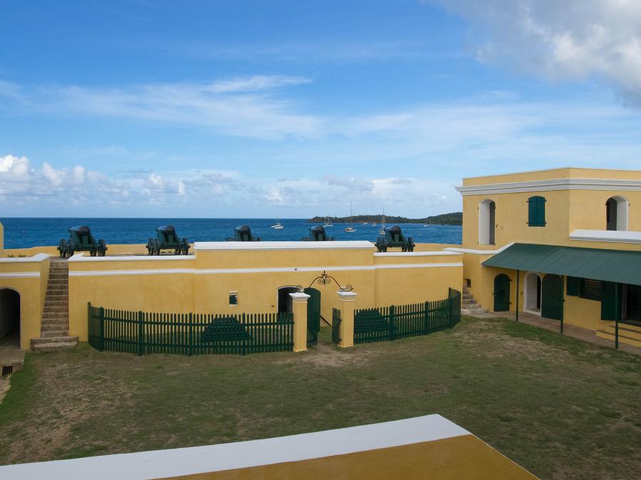 Nordseite Fort Christiansværn Christiansted Harbor