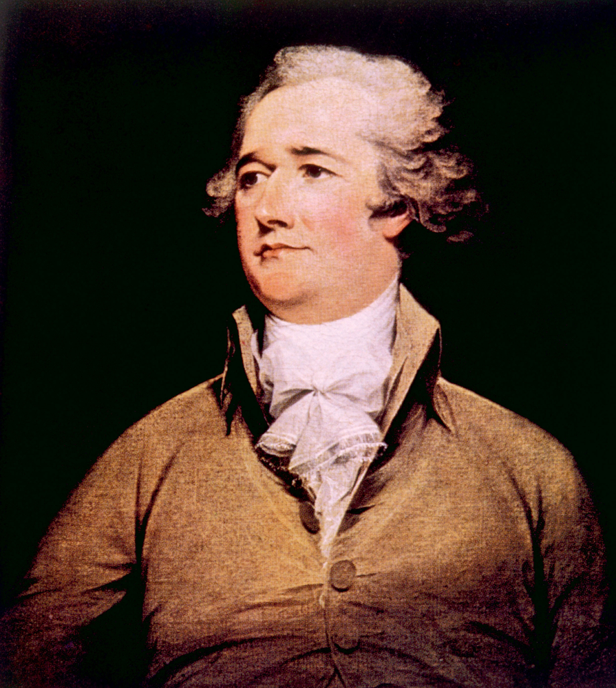 Amerikas erster Finanzminister Alexander Hamilton (1775-1804)