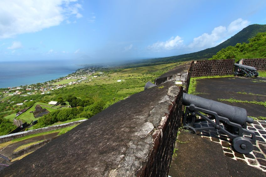 Das karibische Fort Brimstone Hill, St. Kitts