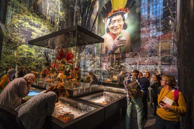 Themenabschnitt Indianer Suriname, Nieuwe Kerk, Amsterdam, Suriname-Ausstellung