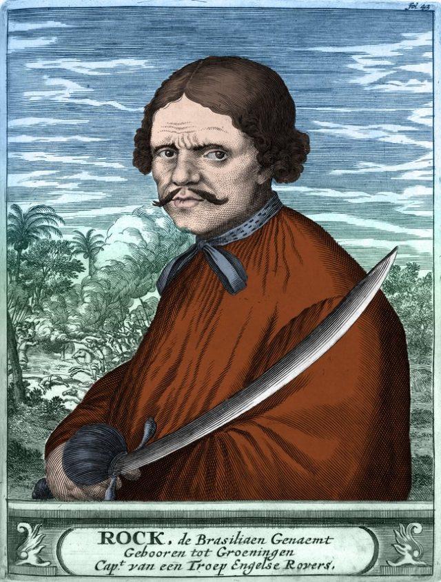 Pirat Roche Braziliano Porträt 1678